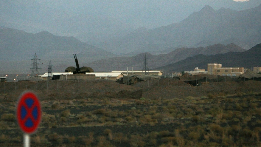 Sept. 2007- FILE picture of an anti-aircraft gun at Iran's nuclear enrichment facility in Natanz, Iran.