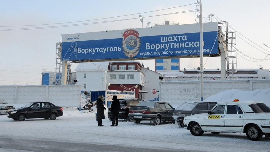 Feb. 11, 2013 - Central entrance to Vorkuninskaya coal mine in Vorkuta.