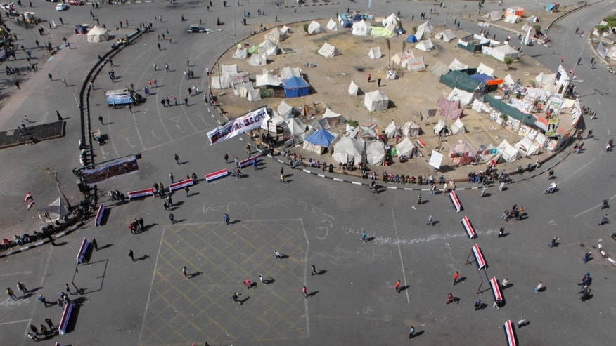 Feb. 11, 2013 - Egyptians play soccer in Tahrir Square prior to planned events to mark the second anniversary of former President Hosni Mubarak's resignation, in Cairo, Egypt.