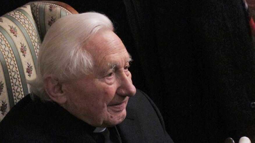 Feb 12, 2013: Georg Ratzinger, brother of the outgoing Pope Benedict XVI, answers journalists' questions during a media opportunity in his home in Regensburg, southern Germany.