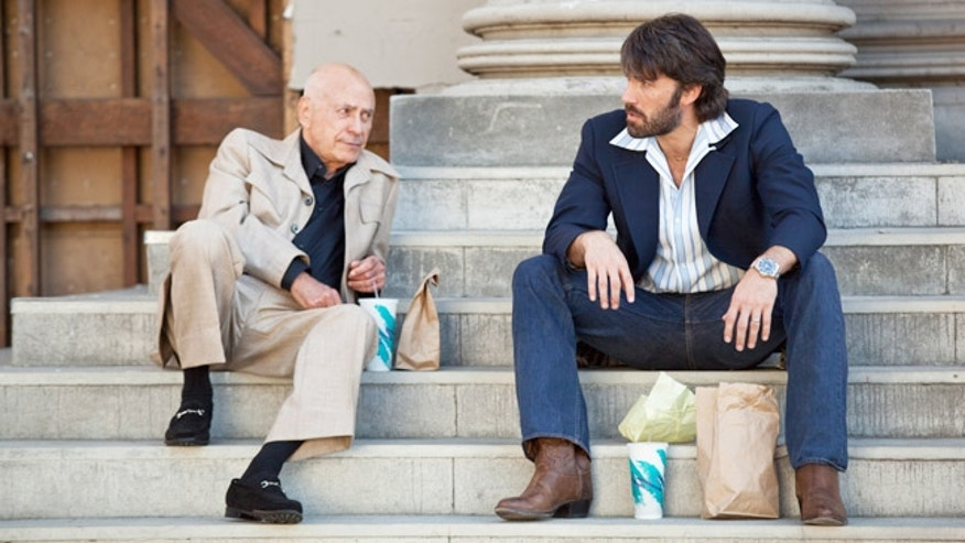 "ALAN ARKIN as Lester Siegel and BEN AFFLECK as Tony Mendez in ""ARGO,"" Warner Bros. Pictures in association with GK Films,  distributed by Warner Bros. Pictures."