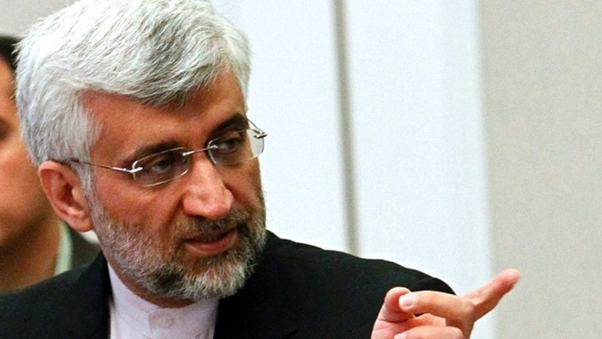 Feb. 27, 2013: Iran's Supreme National Security Council Secretary and chief nuclear negotiator Saeed Jalili speaks during talks on Iran's nuclear program in Almaty, Kazakhstan.