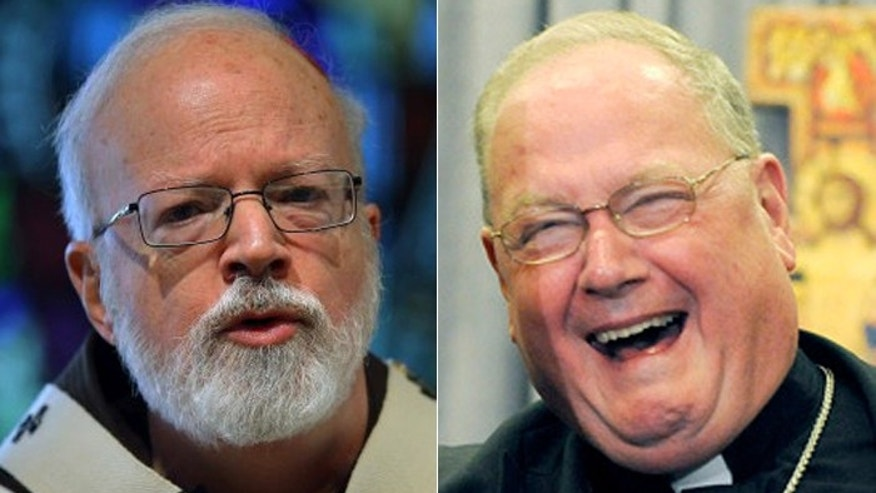 America is a longshot to send the next pope to the Vatican, but if it happens, it will be either Boston Cardinal Sean O'Malley (l.), or New York Cardinal Timothy Dolan (r.). (Reuters)