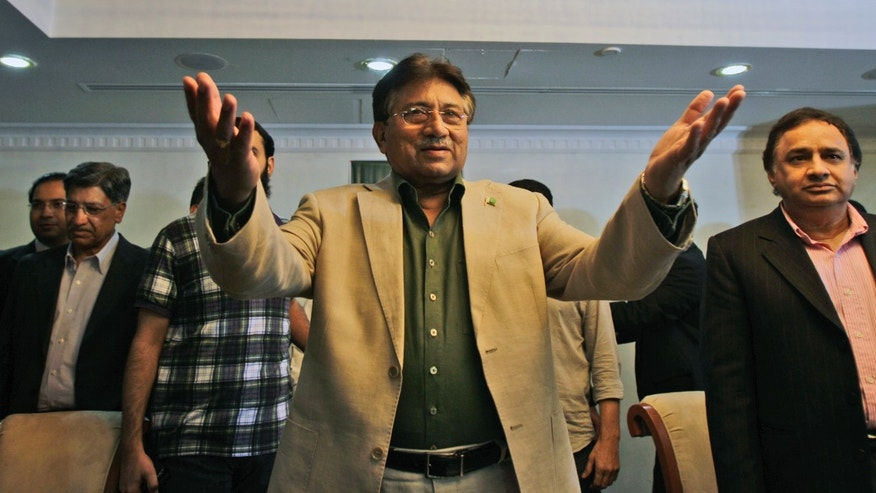 March 23, 2013: Former Pakistani President Pervez Musharraf attends a ceremony to celebrate Pakistan National Day ahead his trip to Karachi on Sunday, in Dubai, United Arab Emirates.
