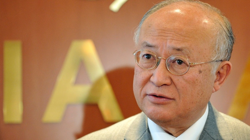 The Director General of the International Atomic Energy Agency, IAEA, Yukiya Amano of Japan is pictured during an interview at his office in Vienna, Austria, Tuesday, April 2, 2013. (AP Photo/Hans Punz)