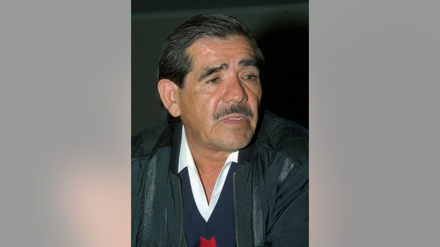 FILE - In this March 26, 1996 file photo, Victor Carranza is seen in Colombia.  Carranza, a miner who became a billionaire thanks to the exploitation of emeralds, died Thursday, April 4, 2013 of cancer. He was 77.  (AP Photo, El Espectador, File)