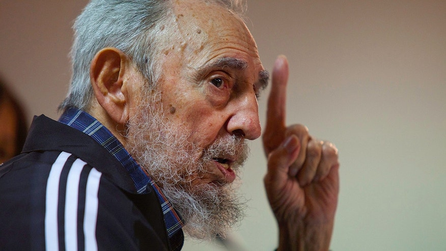 "FILE - In this Feb. 3, 2012  file photo, released by the state media website Cubadebate, Cuba's former president Fidel Castro speaks during the presentation of his book,""Guerrillero del Tiempo,"" or Time Warrior, in Havana, Cuba.  His normally loquacious opinion pieces in the local press have lately been short enough to tweet, and sometimes as vague and mysterious as a fortune cookie. So acolytes and detractors alike have met the latest musings of the Cuban revolutionary, long famed for five-hour speeches, with befuddlement. (AP Photo/Cubadebate, Roberto Chile, File)"