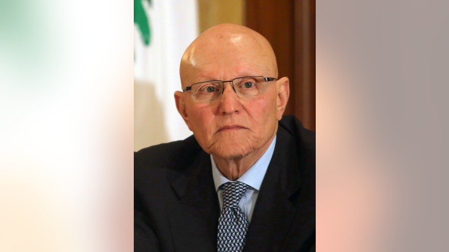 In this Thursday, April 4, 2013 photo, member of parliament and former minister of culture Tammam Salam listens during a meeting with a March 14 political coalition in Beirut, Lebanon. Salam has emerged as the leading candidate for the post of prime minister. Although leaning toward the Western-backed anti-Hezbollah coalition, Salam, who comes from a prominent Sunni Muslim family, is seen as a consensus figure. (AP Photo/Ahmad Omar)