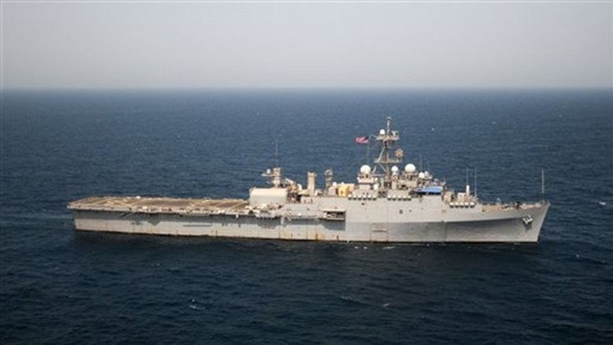 July 4, 2012: In this photo provided by the U.S. Navy, the USS Ponce transits the Persian Gulf en route to Bahrain, according to the U.S. Navy.
