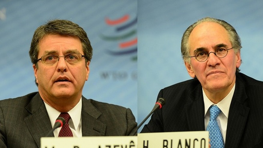 Brazil's Roberto Azevêdo (left) and Mexico's Herminio Blanco (right) are two of the five contenders for the next director general of the World Trade Organization.