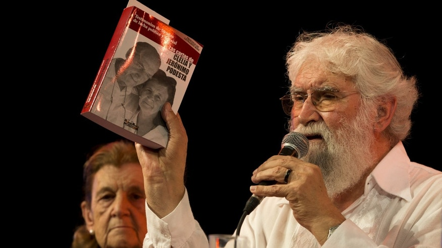 "Liberation Theologist Leonardo Boff, of Brazil, speaks at a book fair during the launching of a book by Clelia Luro, the wife of former bishop Jeronimo Podesta, in Buenos Aires, Argentina, Saturday, April 27, 2013.  Liberation theologist Leanardo Boff says Pope Francis has what it takes to fix a church ""in ruins."" Previous popes tried to silence the Brazilian leftist, but Boff says the former Argentine cardinal who became pope last month has both the vigor and tenderness to create a new spiritual world.  (AP Photo/Victor R. Caivano)"