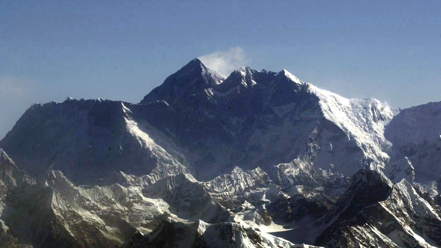 May 6, 2003: In this file photo, Mount Everest, the world's tallest mountain situated in the Nepal-Tibet border as seen from an airplane. (AP)