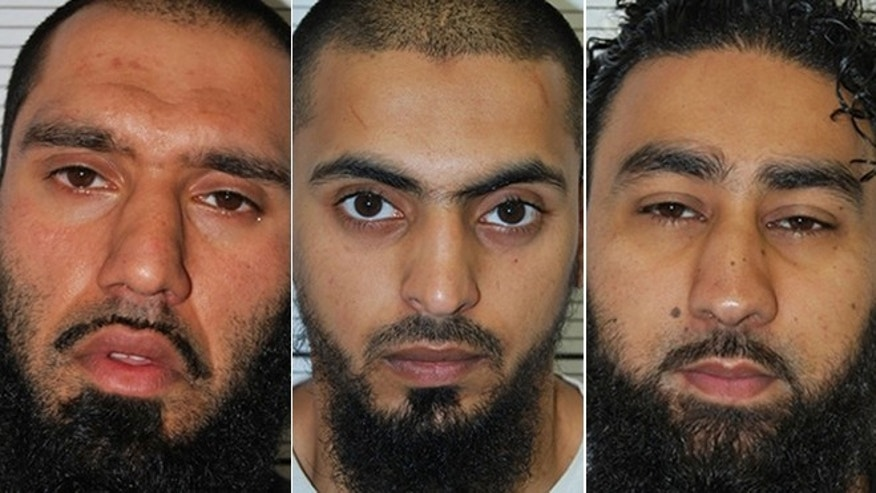 April 30, 2013: This West Midlands Police undated handout photo shows (left to right) Anzal Hussain, Mohammed Hasseen, and Omar Khan, three of the six Islamic extremists who have admitted planning a bloody attack on a far-right rally in northern England in a plot that failed only by chance despite one of them being under surveillance.
