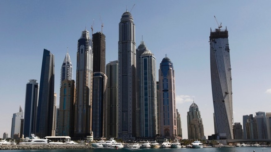 Feb. 7, 2012: High rise towers are seen near the Dubai Marina in Dubai.