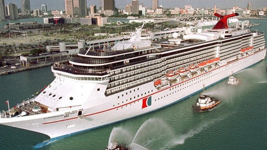 "FILE: Carnival Cruise Lines ""Carnival Spirit"" cruise ship enters Port of Miami."