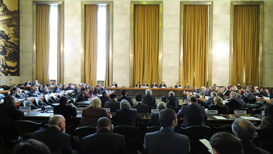 A photo from last year's UN Conference on Disarmament held in Geneva, Switzerland.