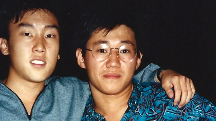 FILE - This 1988 file photo provided by Bobby Lee shows Kenneth Bae, right, and Bobby Lee together when they were freshmen students at the University of Oregon.  Bae, detained for nearly six months in North Korea, has been sentenced to 15 years of labor for crimes against the state.