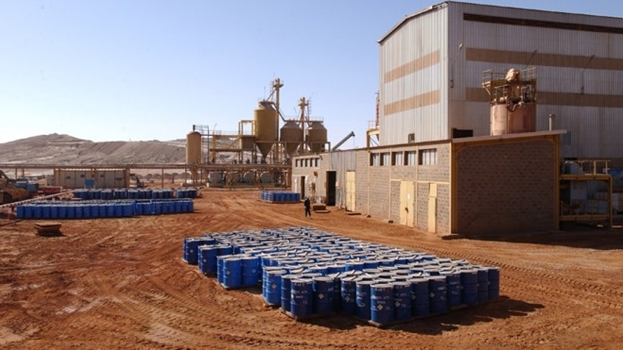 This undated file photo provided by French nuclear manufacturer Areva shows part of the uranium mine of Arlit, in northern Niger. Attackers in Niger detonated two car bombs at dawn on May 23, 2013, one in the city of Agadez where a military barracks was targeted and one in Arlit where a French company operates a uranium mine, injuring more than a dozen people.