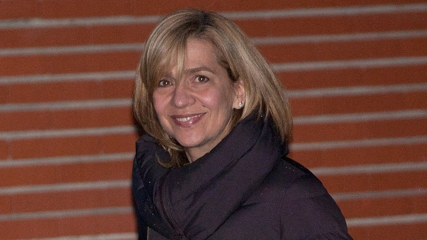 Princess Cristina of Spain leaves after visiting King Juan Carlos I of Spain at La Milagrosa Hospital on March 4, 2013 in Madrid, Spain.