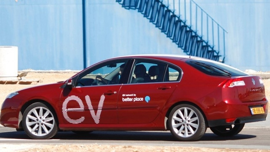 Feb. 7, 2010: In this file photo an electric car is seen during a demonstration of the California-based company Better Place in Tel Aviv, Israel. Israeli entrepreneur Shai Agassi has developed the world's first nationwide electric car network.