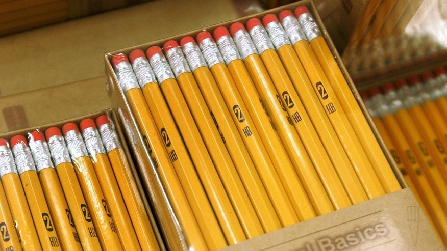 ROSEMONT, IL - AUGUST 11:  Number 2 pencils are displayed in the back-to-school section of a Target store August 11, 2005 in Rosemont, Illinois. With the start of school nearing, retailers are stocking up in anticipation of back-to-school shoppers.  (Photo by Tim Boyle/Getty Images)