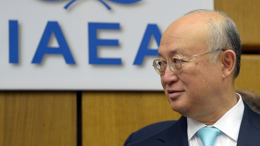 June 3, 2013 - The Director General of the International Atomic Energy Agency, IAEA, Yukiya Amano of Japan waits for the start of the IAEA board of governors meeting at the International Center in Vienna, Austria.