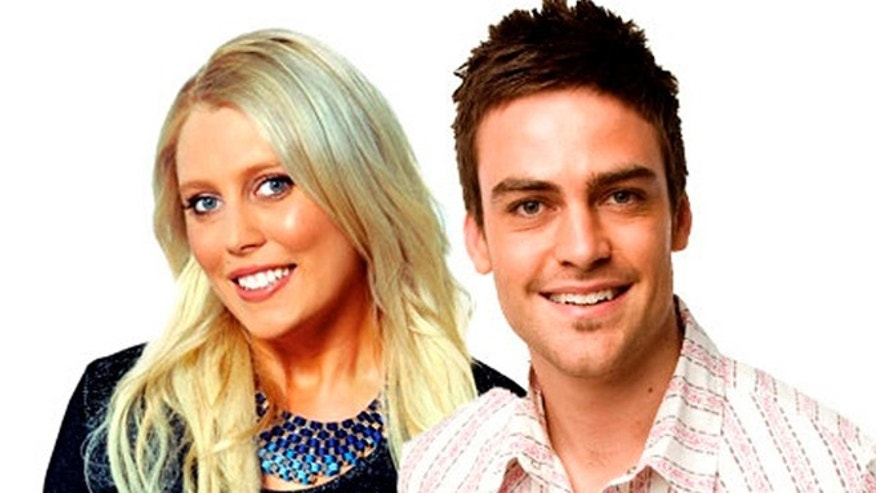 2day FM radio hosts Mel Greig and Michael Christian, pose in Sydney in this picture obtained by Reuters on December 8, 2012.