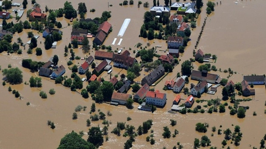 June 5, 2013: The Gohlis suburb of Dresden, Germany, remains flooded on Wednesday. Heavy rainfalls caused flooding in Germany, Czech Republic, Switzerland, Hungary and Austria.