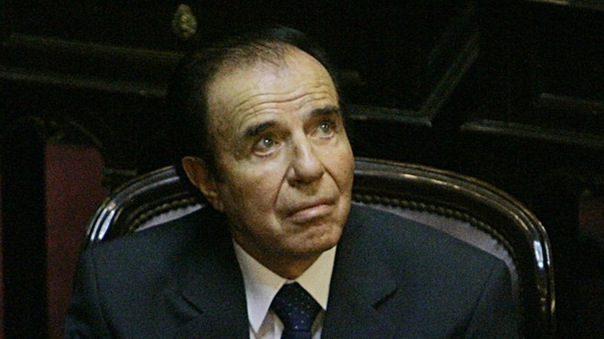 Former Argentine President Carlos Menem in a 2005 file photo.