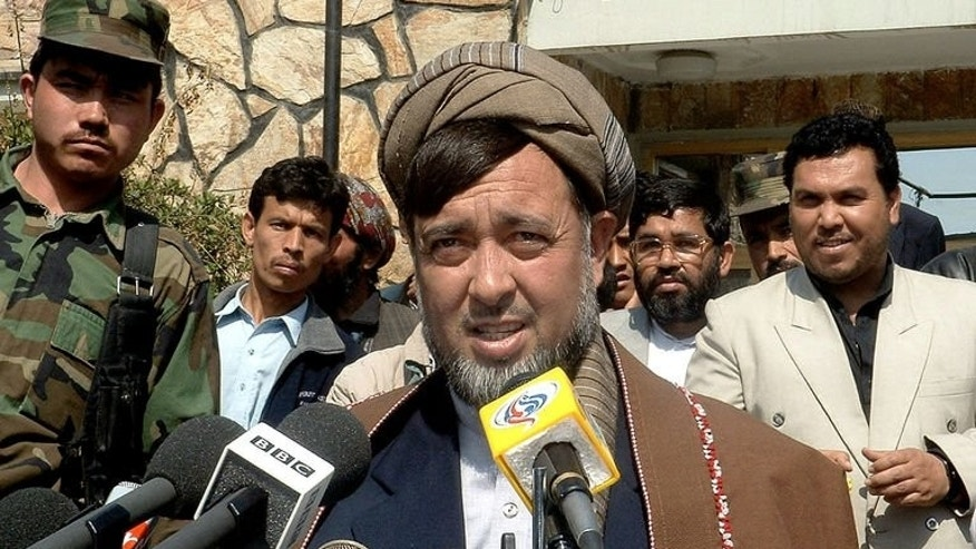 Afghan lawmaker, Haji Mohammad Mohaqiq, pictured in Kabul, on March 9, 2004. Mohaqiq escaped a suicide attack on Tuesday, aides said, on the day that the handover of security from NATO to Afghan forces was to be announced.