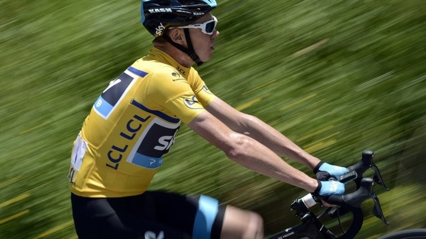 Britain's Christopher Froome rides during the 65th edition of the Dauphine Criterium cycling race on June 7, 2013 between La Lechere-les-Bains and Grenoble. Spain's two-time Tour de France champion Alberto Contador has been nominated by race favourite Froome as his biggest threat for this year's edition, which gets underway on June 29 in Corsica.