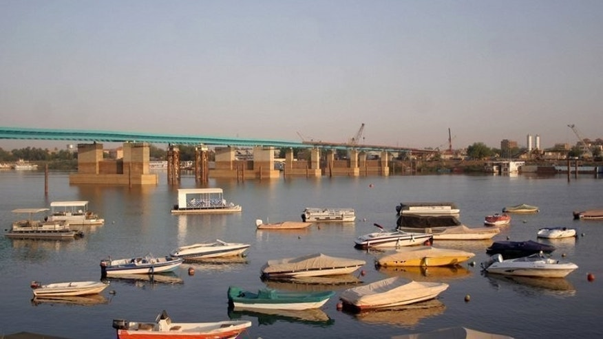 Boats from the Blue Nile Sailing Club float on the river in Khartoum in 2007. Both Sudan and Egypt, arid nations that rely heavily on the Nile for water including for agriculture, are extremely sensitive about projects that could alter the flow of the Blue Nile.