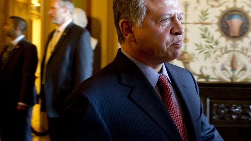 Jordan's King Abdullah II, pictured here on April 25, 2013, has endorsed a treaty with Britain expected to pave the way for the extradition of radical cleric Abu Qatada who has resisted deportation for the past decade, official Petra news agency reported Tuesday.