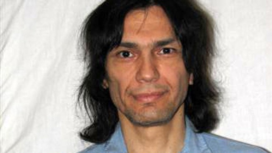June 15, 2007 file photo released by the California Department of Corrections and Rehabilitation of convicted killer Richard Ramirez in San Quentin State Prison in Marin County, Calif.