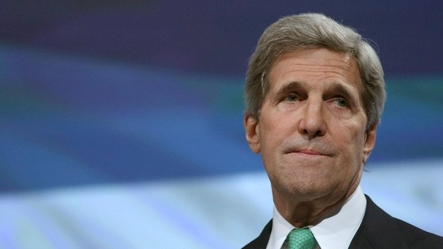 This file photo shows US Secretary of State John Kerry during an event in Washington, DC, on June 3, 2013. Kerry has been forced to delay a visit to Pakistan because of the worsening crisis in Syria, Pakistani officials said on Tuesday.