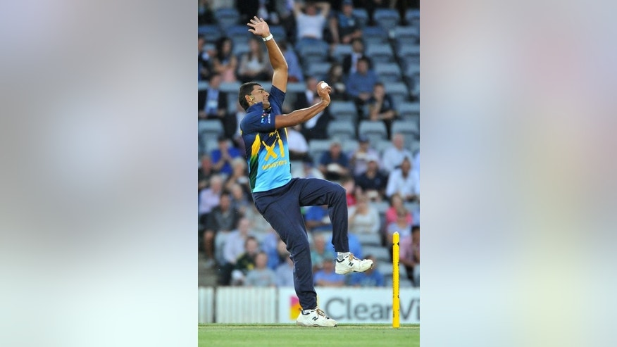 Australian bowler Gurinder Sandhu, seen in action during a cricket match in Canberra, on January 29, 2013. Gurinder was on Wednesday named on the Australia A squad for a tour of Africa beginning next month.