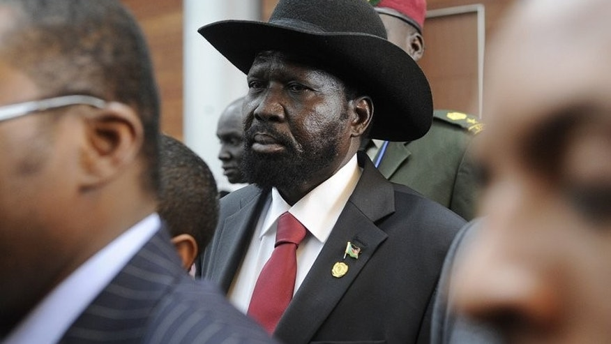 Salva Kiir, seen at a summit in Addis Ababa, Ethiopia, on May 26, 2013. The South Sudanese president has suspended two of his most senior and influential ministers to launch investigations into an alleged multi-million dollar corruption scandal, official documents show.