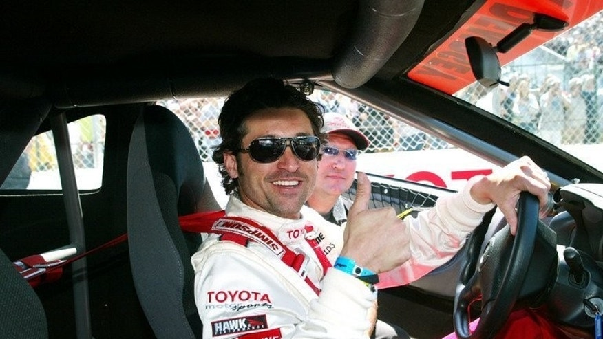 Celebrity race car driver actor Patrick Dempsey in Long Beach, California, April 9, 2005. Dempsey returns to the Le Mans 24 Hour Race this weekend, four years after his debut in motor racing's oldest active endurance race.