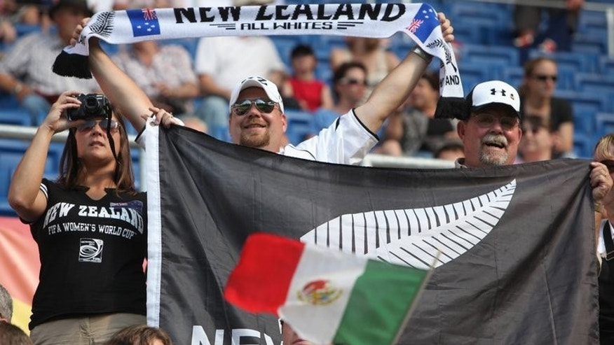 New Zealand supporters cheer in Sinsheim, southern Germany, on July 5, 2011. FIFA on Friday said they had launched disciplinary proceedings against New Zealand amid claims that they fielded an ineligible player in their 2014 World Cup qualifier against the Solomon Islands in March.