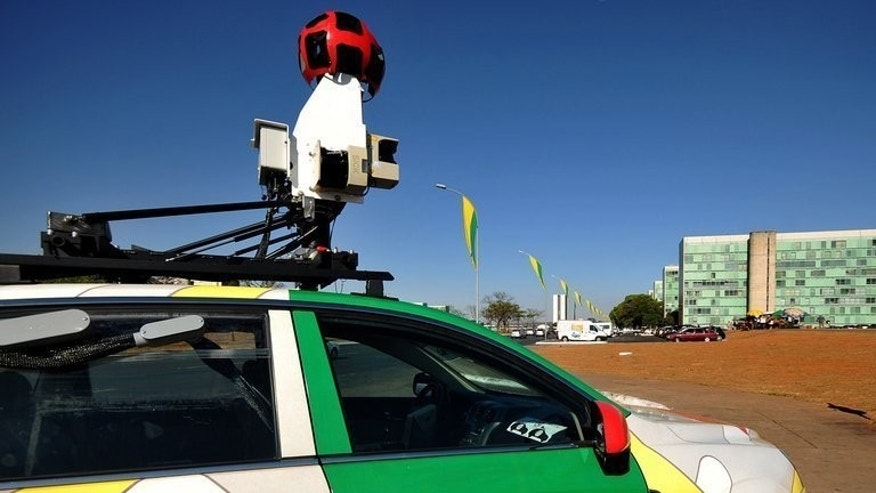 "The Google street view mapping and camera charts the streets of Brasília, Brazil, September 6, 2011. British authorities on Friday gave Internet giant Google 35 days to delete any remaining data ""mistakenly collected"" by its Street View cars when taking city snapshots for its map service."