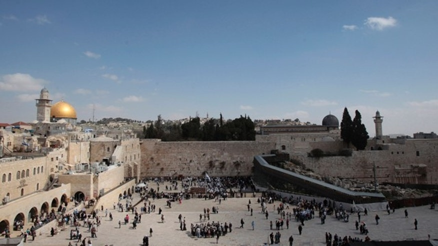 FILE: The Dome of the Rock, the Western Wall and the Mughrabi Gate entrance to the compound known to Muslims as al-Haram al-Sharif, and to Jews as Temple Mount, are seen in Jerusalem&#39&#x3b;s Old City.