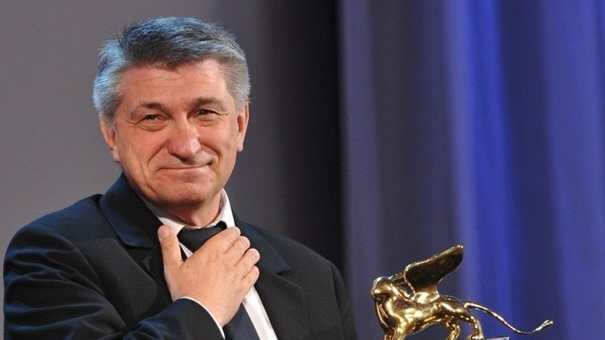 "Russian film director Alexander Sokurov pictured at the Venice Film Festival on September 10, 2011. Sokurov has asked the famous Russian mime Slava Polunin in a letter to end the misery of ""circus animal prisoners"" and make the Fontanka Circus animal-free."