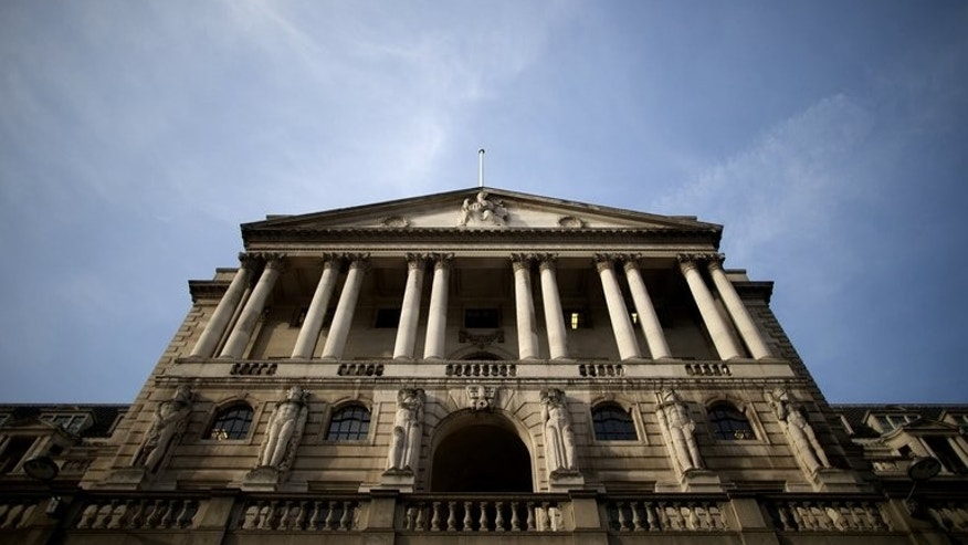 The Bank of England in central London on February 28, 2013. It has signed an agreement with the People's Bank of China to establish a reciprocal, three-year sterling-yuan currency swap line, Britain's central bank announced.