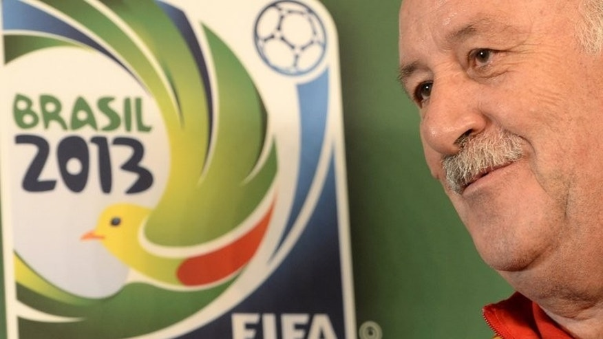 Spain coach Vicente del Bosque during a press conference in Fortaleza on June 22, 2013. Del Bosque's shrewd squad management was a key feature of Spain's successes at the 2010 World Cup and Euro 2012.