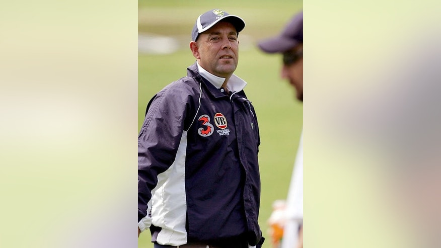 Australia's Darren Lehmann, pictured during a training session in Sydney, on January 1, 2005. Lehmann, who is in England coaching Australia A, is the firm favourite to replace sacked Mickey Arthur, whose contract was due to run until the end of the World Cup in March 2015.