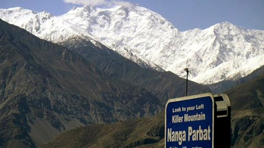 May 4, 2004: Nanga Parbat, the ninth highest mountain in the world, is seen from Karakorum Highway leading to neighboring China in Pakistan's northern area.