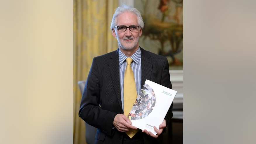 British Cycling chief Brian Cookson poses for a photo in Paris, where he presented his project for his candidacy for the presidency of the International Cycling Union (UCI), on June 24, 2013.