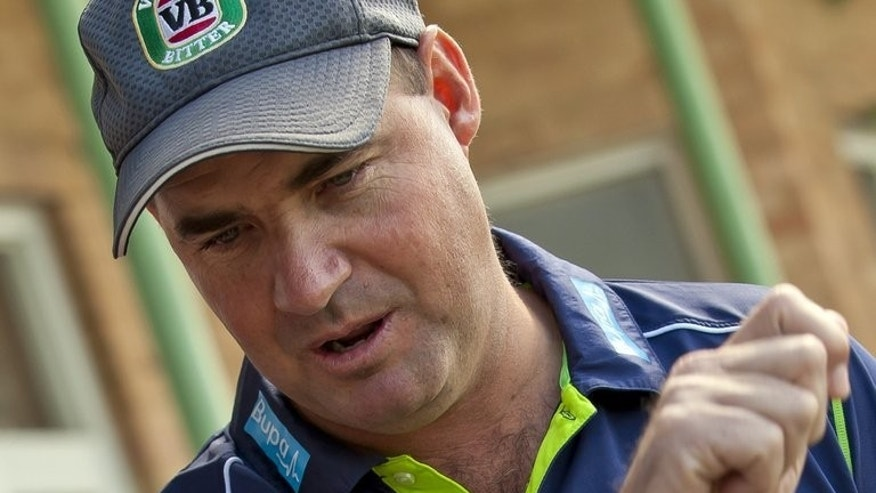 Former Australia coach Mickey Arthur during a press conference in Perth on March 26, 2013. Arthur was sensationally sacked 16 days before the first Test in Nottingham after several high-profile on- and off-field embarrassments for the team.