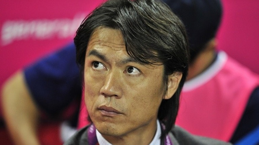 Hong Myung Bo pictured before the Olympic Games men's quarter-final against Great Britain on August 4, 2012. South Korea named Hong, who led the under-23 team to a bronze medal at the Olympics, as the new coach of the national side.