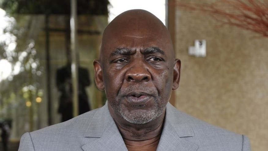 File picture taken on July 17, 2012 shows Mali's then interim prime minister Cheick Modibo Diarra speaking after a meeting with Burkina Faso President in Ouagadougou. Diarra told AFP on Tuesday he was standing for president in the July elections.